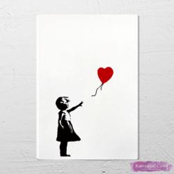 Banksy Girl With Balloon tablo