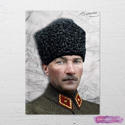 Atatürk Kalpaklı Üniformalı kanvas tablo