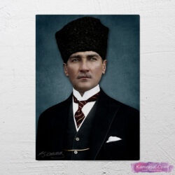 Atatürk Kalpaklı Sivil kanvas Tablo