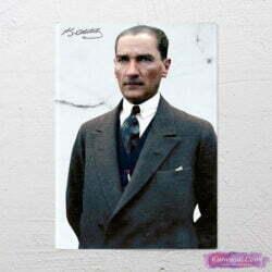 Atatürk Sivil Kıyafetli kanvas tablo